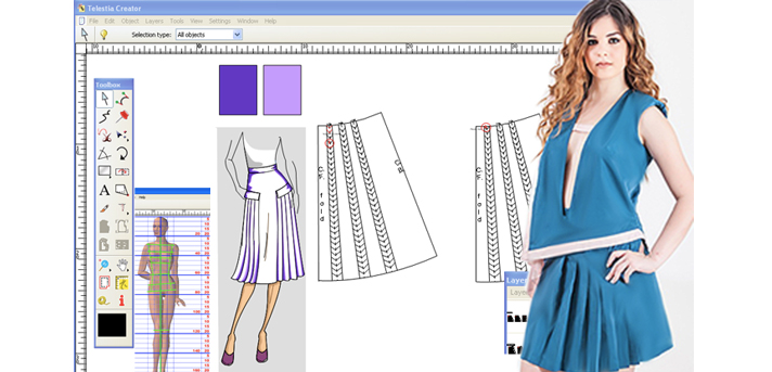 Telestia Creator CAD Special Process Performance for Clothing Design